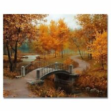 Diy Painting, Paint by Number Kit - Autumn Season / Maple Tree DO IT YOURSELF