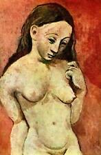 """Vintage Pablo Picasso Print """"Nude Girl with Long Hair"""" 1965 Original Book Plate"""