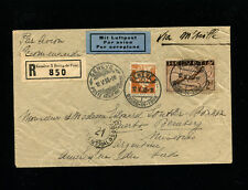 Switzerland 1933 Airmail  Registered Commercial cover to Argentina via Marseille