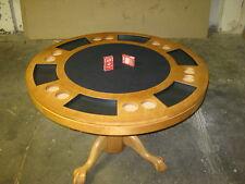 Pokertisch Spieltisch 3 in einem Tisch  Billard rund120cm Blackjack Massivholz