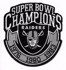 "🔥6"" OAKLAND RAIDERS 3X Super Bowl Champions Iron-on Raider Nation Jersey PATCH!"