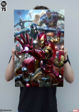 sideshow   ironman  House Party Protocol HD Aluminum Metal Variant  6/75