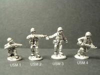USM14-15-16-17 Marines Troops Metal WWII U.S 4 Variations 1//76-20mm Scale