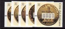 Vaticano 2001 Automatici Monete d'Oro MNH**