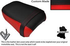 Brillante Rojo Y Negro Custom Fits Yamaha 535 Virago Trasera de piel cubierta de asiento solamente