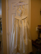 Jessica McClintock Renaissance style/ wedding dress shimmering gold  size 7
