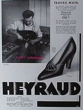 PUBLICITE CHAUSSURE HEYRAUD TRAVAIL FAIT MAIN MODELE PRINCIA DE 1933 FRENCH AD