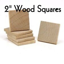 "SQUARE ~ 2"" ~ Wood Cutout Craft Shape ~ Unfinished { Lot of 25 } ~ by PLD"
