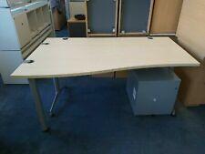 160cm Herman Miller Office Home Wave Maple Desk Table with Pedestal Storage RM15