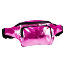 80's Style High Shine Bum Bag - 80's Fancy Dress - Pink
