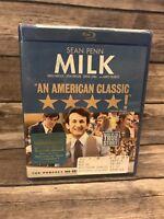 Milk (Blu-ray Disc, 2009) Sean Penn Harvey Milk Biopic Gus Van Sant NEW Sealed