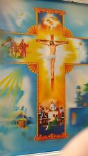 Framed 3D Art 2 Change 2 pictures in one Jesus  HD picture 35 x 50 cm New C