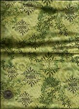 """""""Chester Gardens"""" Print in greens Fabric by Mark Lipinski's Home for Northcott"""