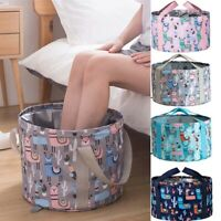 Portable Travel Outdoor  Foldable Folding Camping Wash basin Bucket Washing Bag-