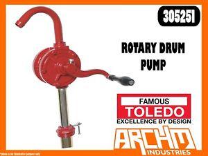 TOLEDO 305251 - ROTARY DRUM PUMP - TRANSFER OILS FLUIDS NON-CORROSIVE LUBRICANTS