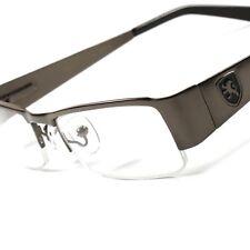 New Khan Clear Lens Smart Half Frame Fancy Stylish Mens Womens Eye Glasses B9D
