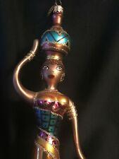 "1999 Christopher Radko 10"" Moroccan Lady Ornament Beautiful Ornament w Radko Box"