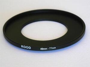 STEP UP ADAPTER 49MM-77MM STEPPING RING 49MM TO 77MM 49-77 FILTER ADAPTER