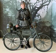 1/6 Scale german WW2 soldier with bicycle custom figure (DID,DLM)