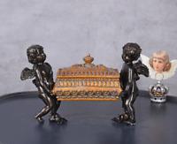 SCHMUCKKÄSTCHEN Engel SCHMUCKDOSE Antik DECKELDOSE BOX SCHMUCKSCHATULLE Barock