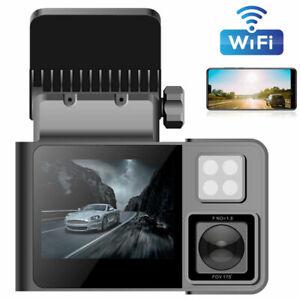 WIFI Dual 1080P Car DVR Dash Cam Camera Video Record Night Vision For Taxi Uber