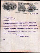 1907 Harrisburg Pa - Boll Bros Mfg Co - Artistic Metal Beds - Letter Head Rare