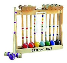 """CROQUET SET & CADDY 8 Player 28"""" Maple Wood & Brass Amish Handmade in USA Game"""