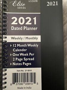 2021 Dated Planner Weekly/monthly Elite Series Black MSRP $8.95