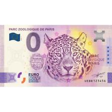ANNIVERSARY - Billet Touristique Euro Souvenir '' Zoo de Paris '' 2020