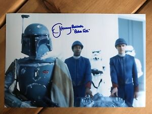 Jeremy Bulloch STAR WARS Hand Signed 12x8 Photo SEE HIM SIGNING PROOF.