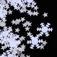 15g Shimmer White Snowflake Stars Christmas Confetti Table Sprinkles Decor
