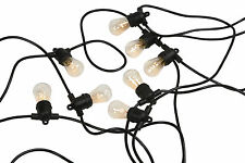20m String Festoon Lights Wedding Party Fairy Outdoor Marquee Christmas Vintage