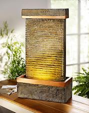 LED Zimmerbrunnen Beleuchtet Brunnen Balance Naturstein Optik ASIA Feng Shui NEU