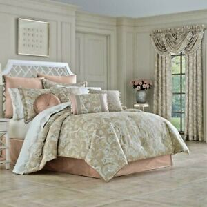 J Queen New York Caitlin Blush  4 pc Comforter Bed Skirt Shams Set King ret $585