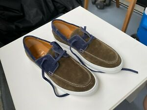 Made in Italy Color Blue / Green Suede O'Keeffe Deck Shoes Size 11 USA / 44 EUR