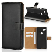 For Google Pixel 2 Pixel 2 XL Black Genuine Leather Wallet Card Flip Case Cover