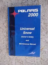 Polaris 2000 Universal Snow Snowmobile Owner Manual MORE SNO-MO ITEMS IN STORE S