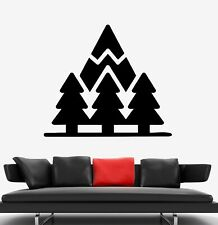 Wall Decal Forest Pine Trees Mountain Nature Vinyl Sticker (ed1761)