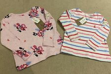 BNWT Joules Long Sleeve Tops - Baby Girls 3 - 6 months