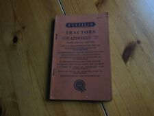 NUFFIELD TRACTORS - GRAPHOREF 25 - OWNERS SERVICE PARTS LIST. 1962