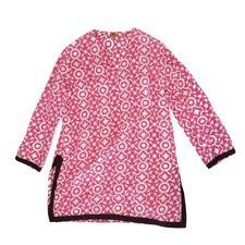 Roberta Roller Rabbit Pink & White Tunic in M Medium