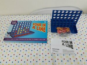 Kids Classics Four In A Line Connect 4 Board Game - Complete! Good Condition!