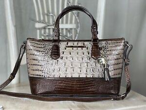 BRAHMIN Mini Asher Barley Bronte Medium Satchel Shoulder Handbag Purse $275.00