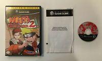 Naruto: Clash of Ninja 2 Player's Choice (Nintendo GameCube, 2006) BOX AND GAME