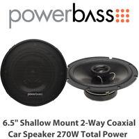 "Powerbass S-650T - 6.5"" Shallow Mount 2-Way Coaxial Car Door Speaker 270W BNIB"
