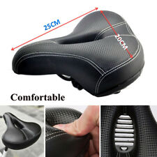 Wide Big Bum Bike Bicycle Gel Extra Comfort Sporty Soft Pad Saddle Seat Black