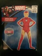Iron Man Party Suit Marvel Bodysuit Fancy Dress Teen Medium up to 5'