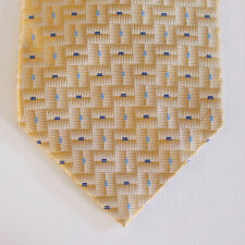 """NEW 64"""" Murano Silk Neck Tie Yellow with Light Blue and Navy Dots Pattern 1627"""