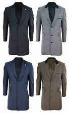 Manteau homme pardessus longueur 3/4 tweed à chevrons style Peaky Blinders
