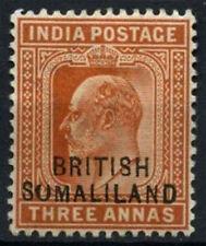 """British Somaliland 1903 SG#28b 3a Orange-Brown """"Sumaliland"""" Variety Error#D24681"""